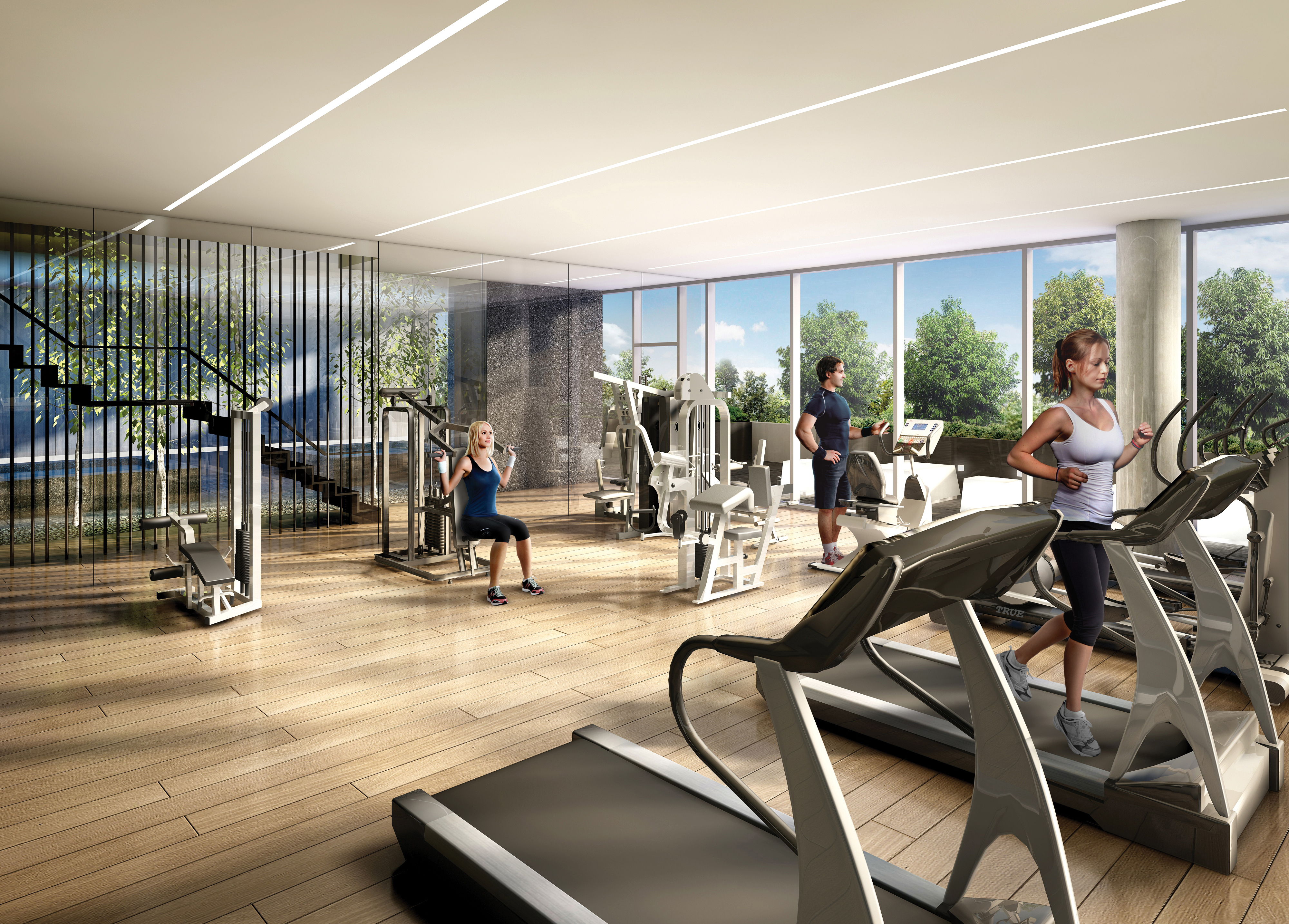 "Schedule in some ""me time"" at the Fitness Centre with state-of-the-art cardio equipment and strength-training free weights"