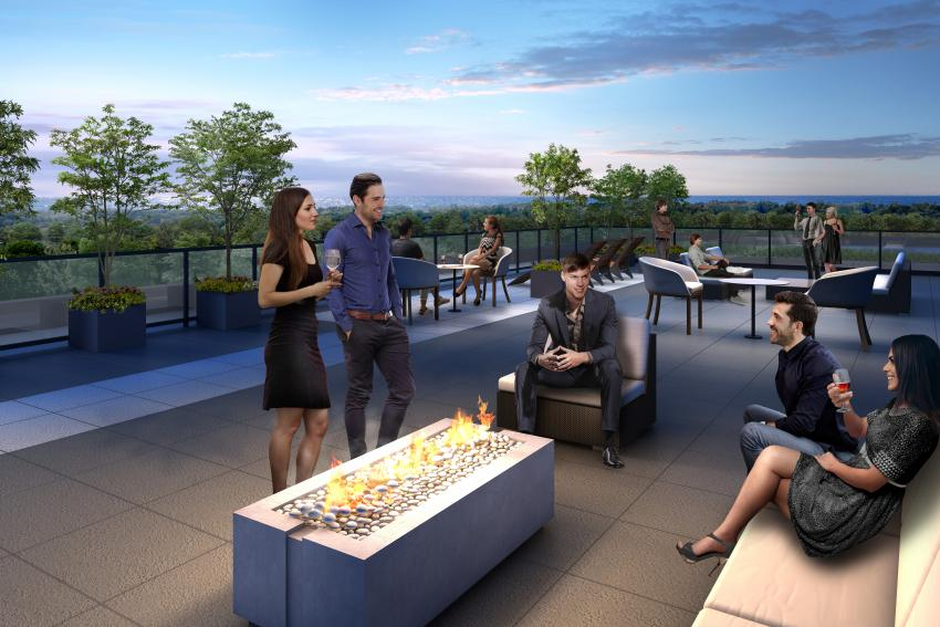 Come night time, the Rooftop Terrace turns into a breathtaking entertaining venue, complete with firelit and intimate conversation areas
