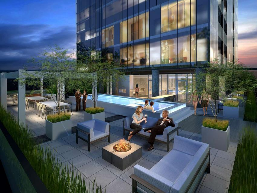 The 20th floor Sky Lounge including a Swimming Pool, Whirlpool and uber-stylish lounging, maximize the gorgeous lake views