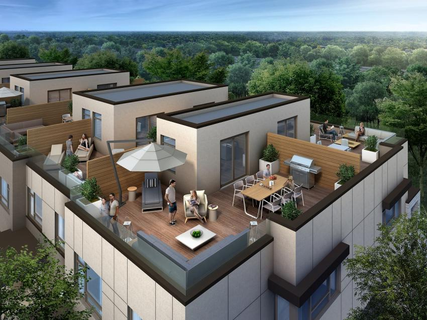 Chicago Collection – Rooftop Terraces provide elegant outdoor living spaces, perfect for entertaining guests or for quite downtime