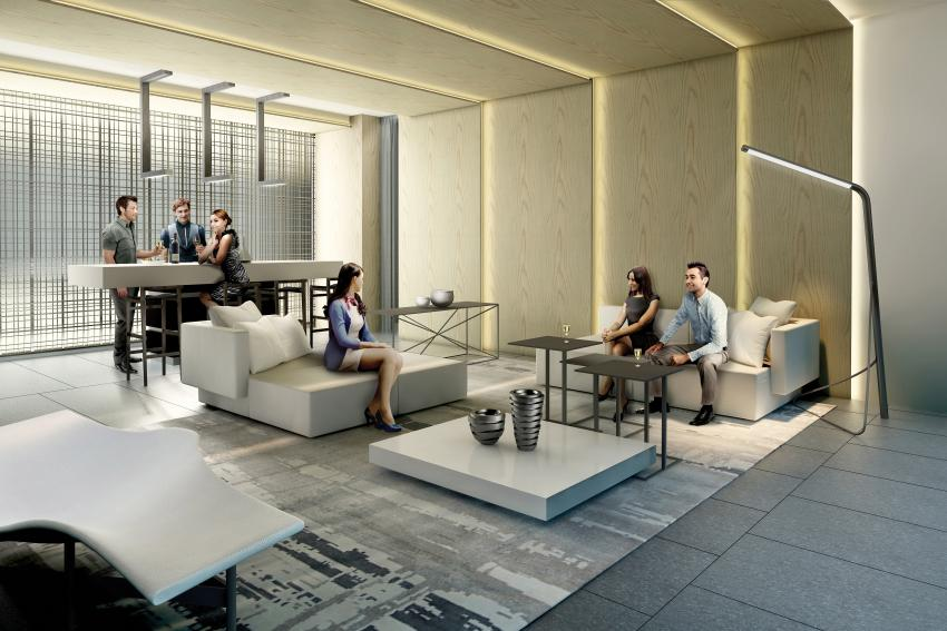 Let the chic vibe of the Party Room set the tone for your friends. Gather at the bar for cocktails, or settle into the couches in from of the gorgeous fireplace