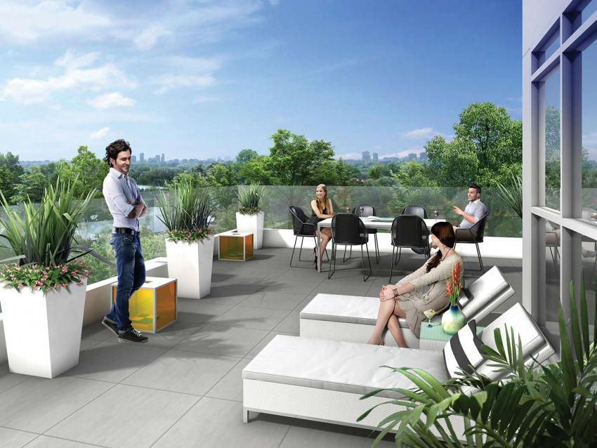 The second storey of the Wellness Centre features spacious rooftop terraces