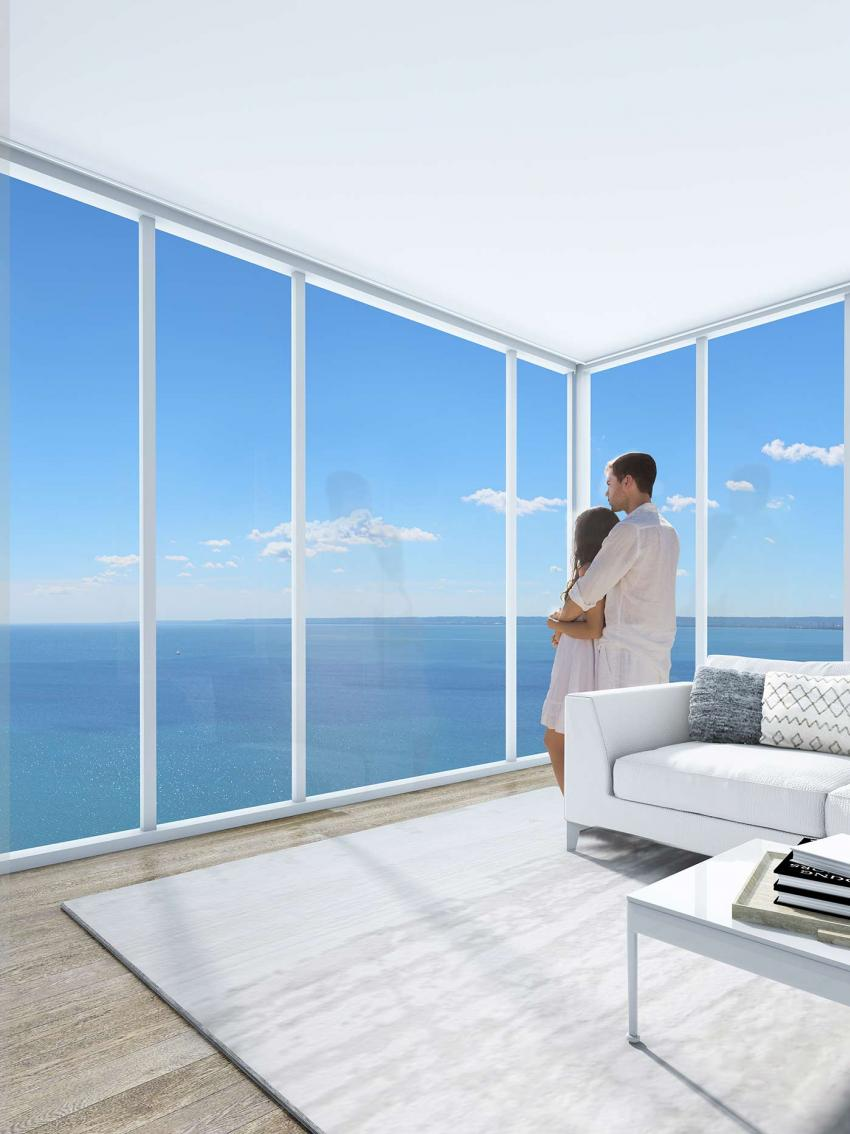 Bask in forever views of the City or lake from your suite