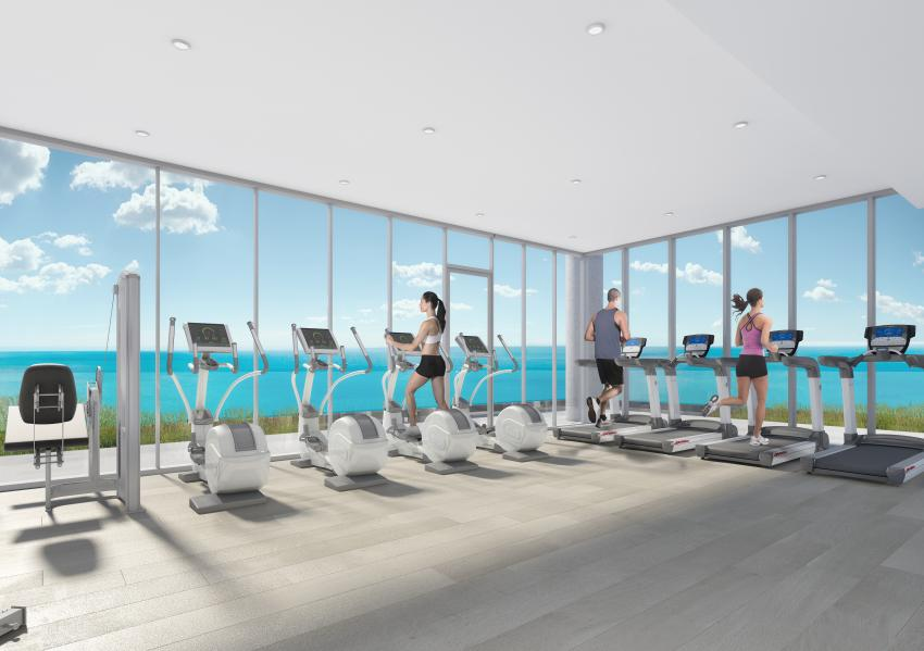 The state-of-the-art Fitness Centre comes complete with cardio and weight-lifting equipment, coupled with magnificent lake views