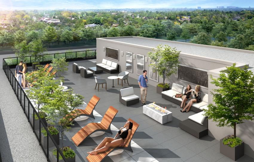 Spacious Rooftop Terrace offers sophisticated serenity coupled with mesmerizing views