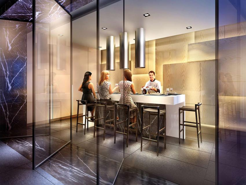 Bring in a private chef to the stunning Demonstration Kitchen to create the evening's menu, or take control of the cooktop and demonstrate your own culinary prowess