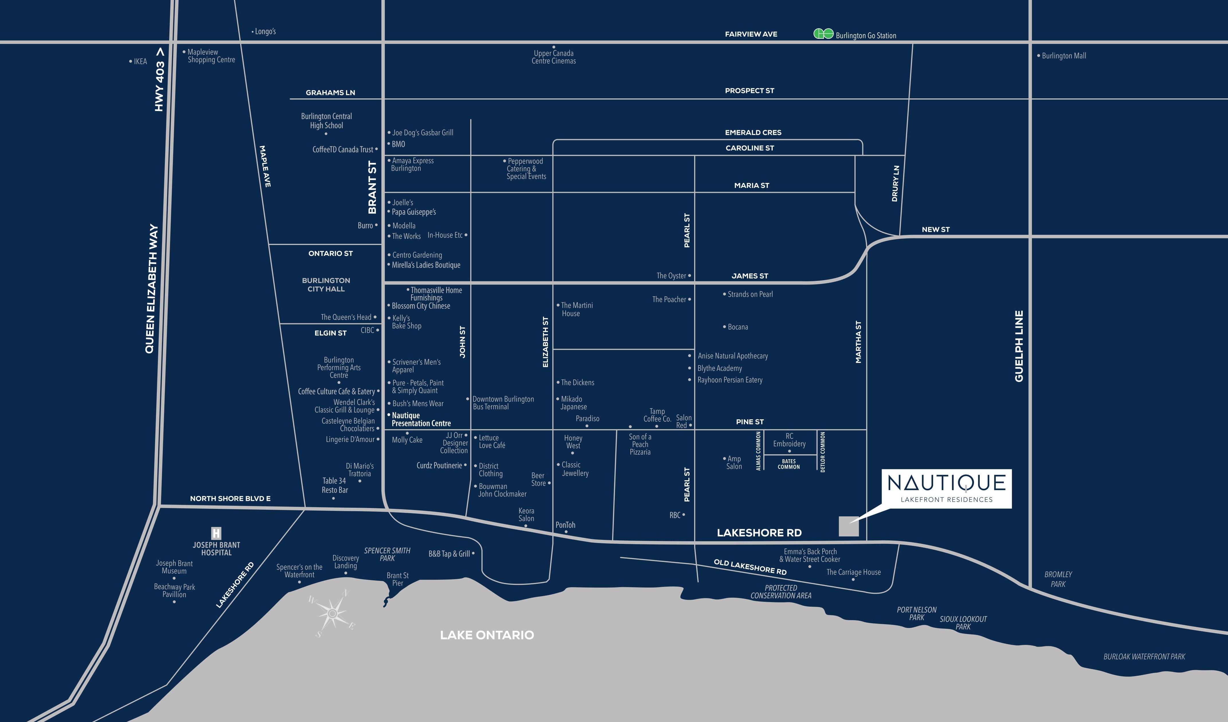 Nautique Penthouse Collection Neighbourhood Map