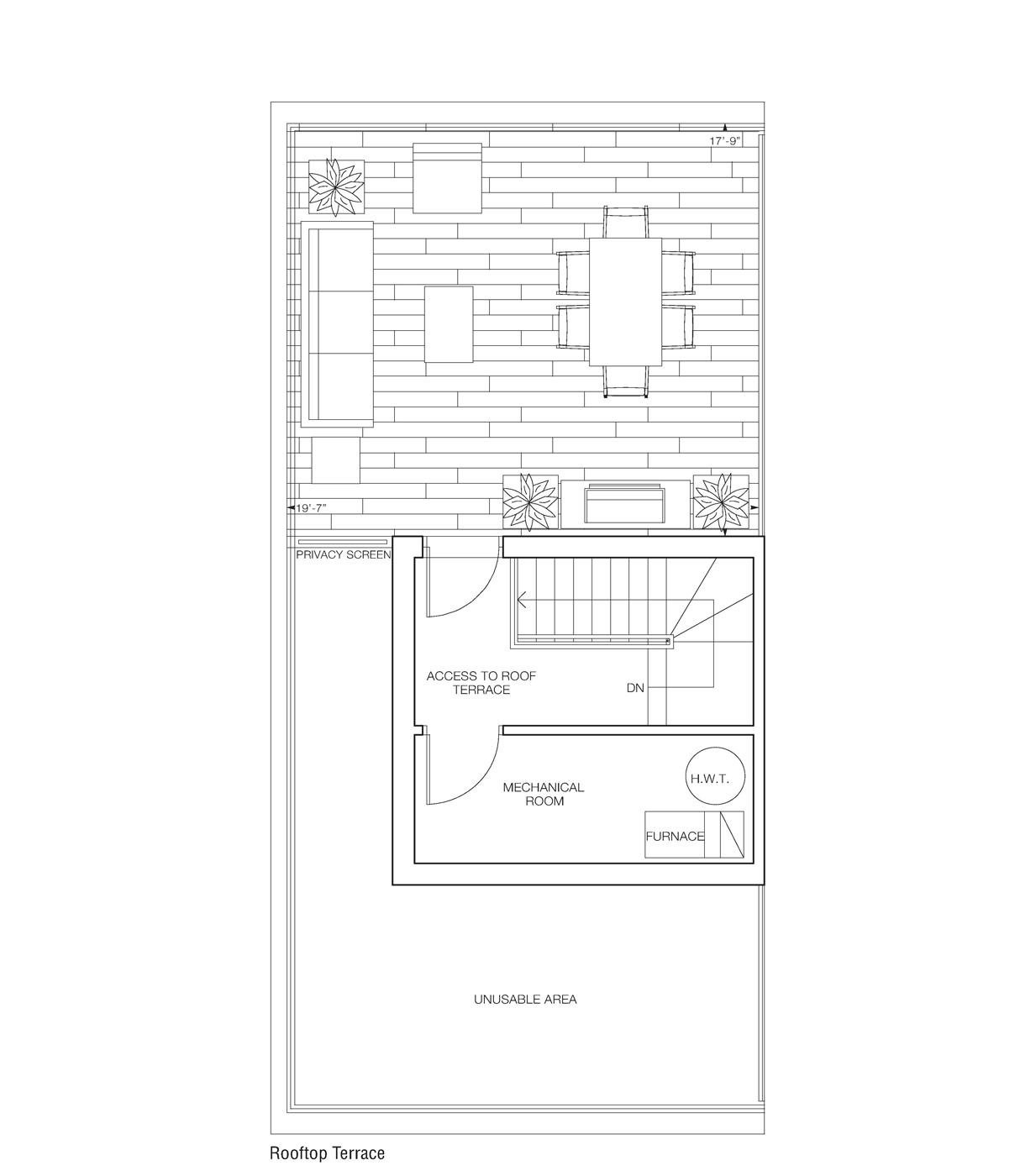 Saranno Suit Floor Plan Rooftop Access