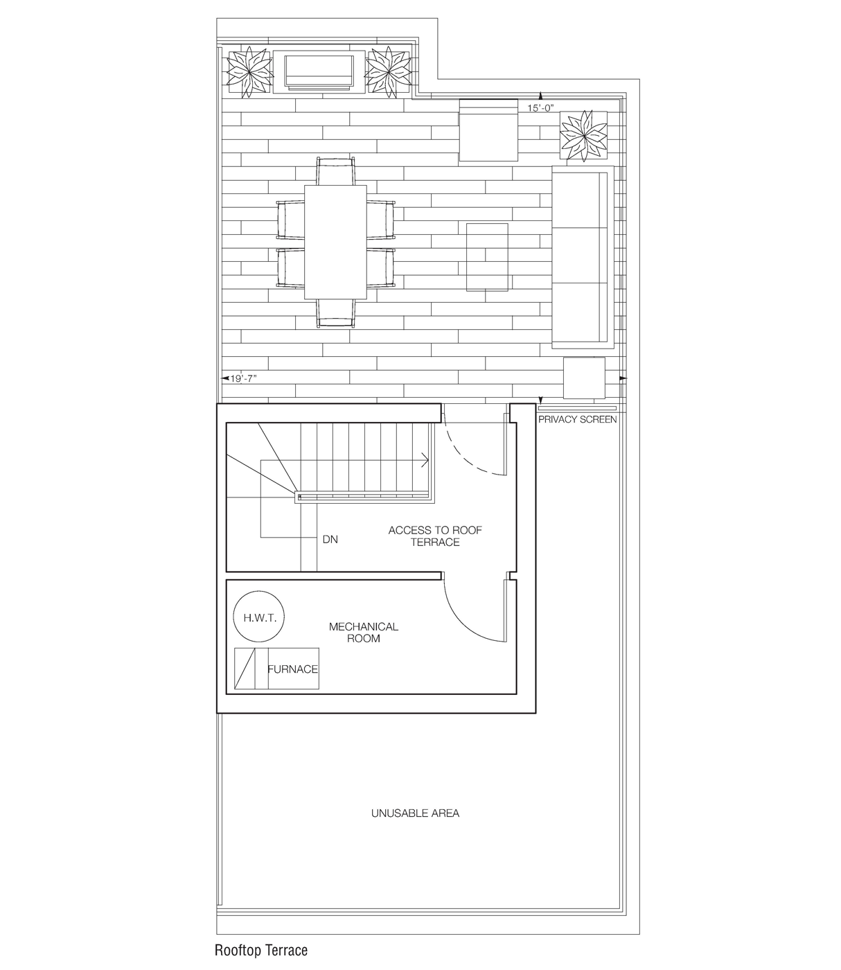 Loreto Rooftop Access Floorplans