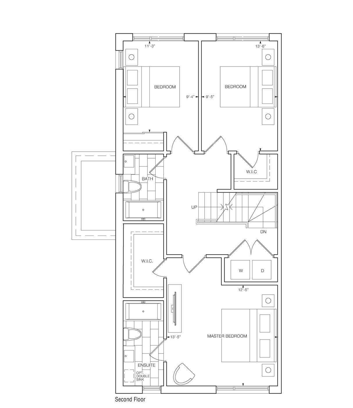 Saranno Floor Plan Master Bedroom